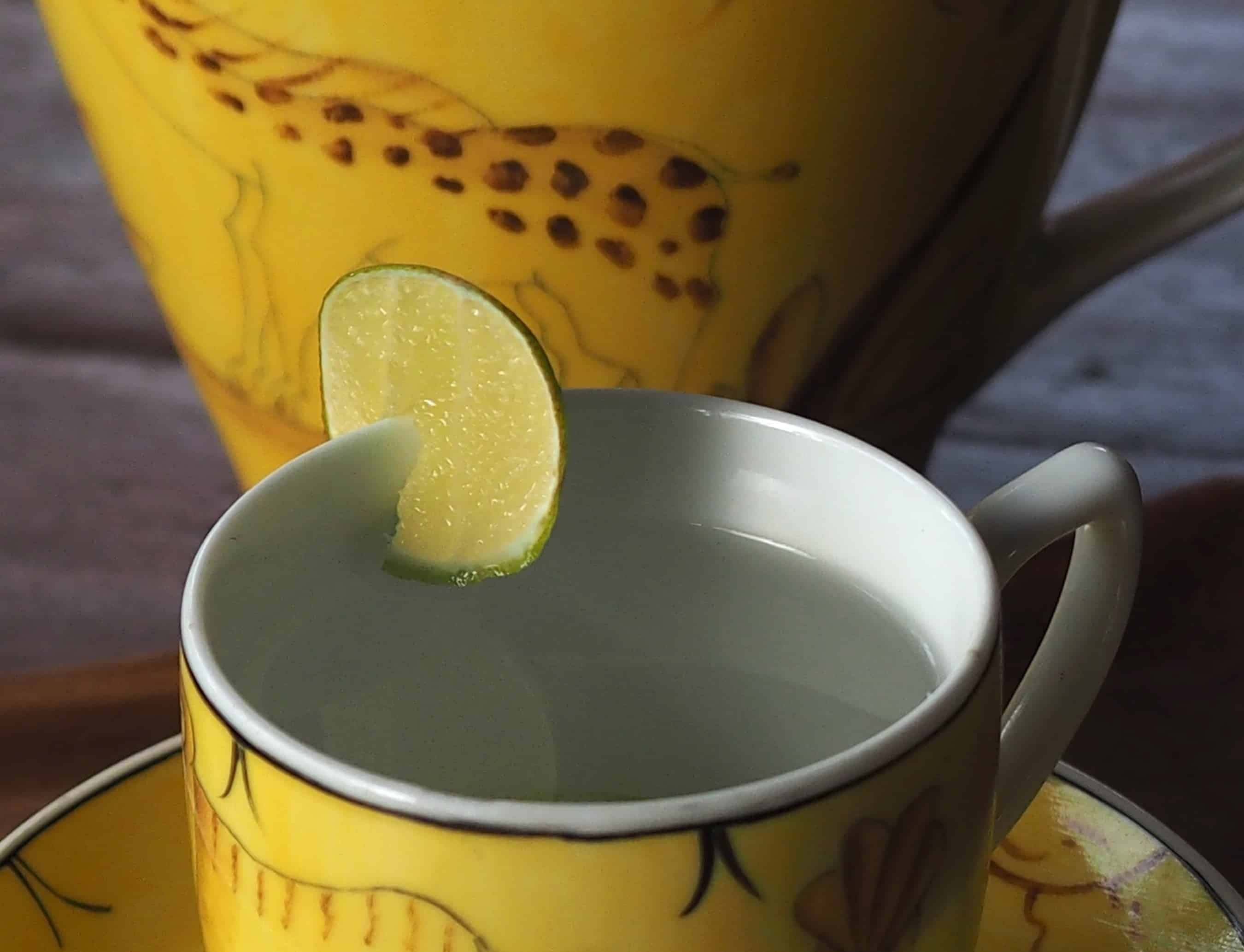 Get your digestive juices flowing with a cup of lemon and warm water