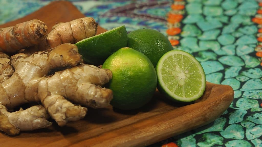 Get your digestive juices flowing with ginger lime and tumeric