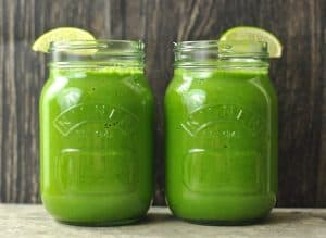 Part of your menopause nutrition opt for green juice rather than fruit juices