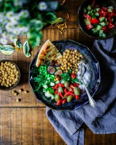 Part of your menopause nutrition big colourful bowl of salad