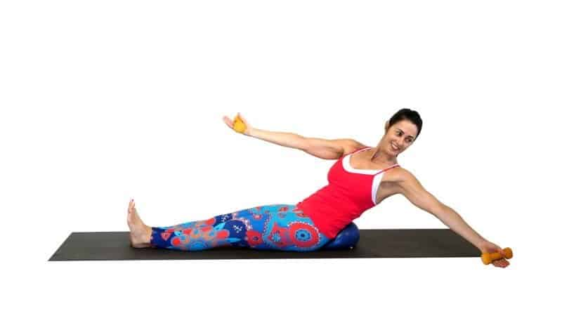 Combat loss of muscle tone with pilates ball DB abs